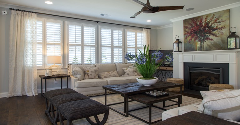 Interior Shutters in Chicago Living Room