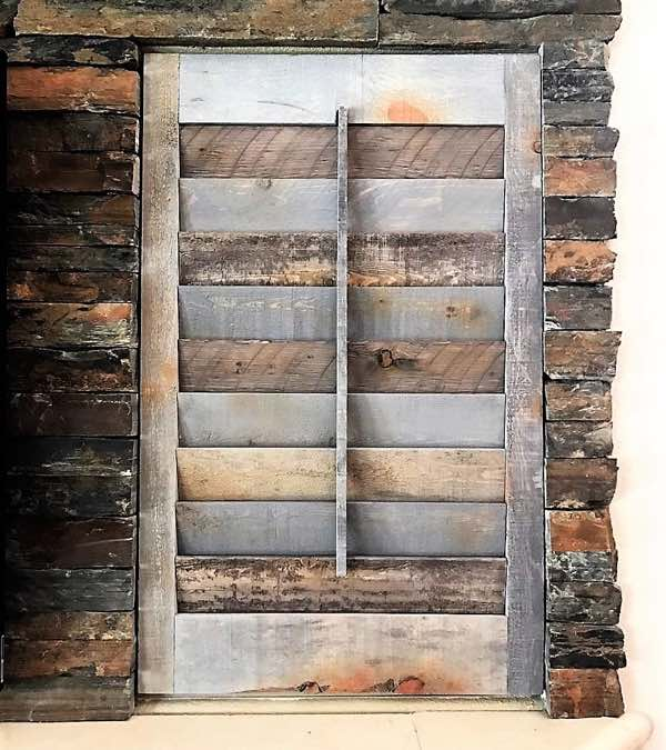 Chicago recycled wood shutter