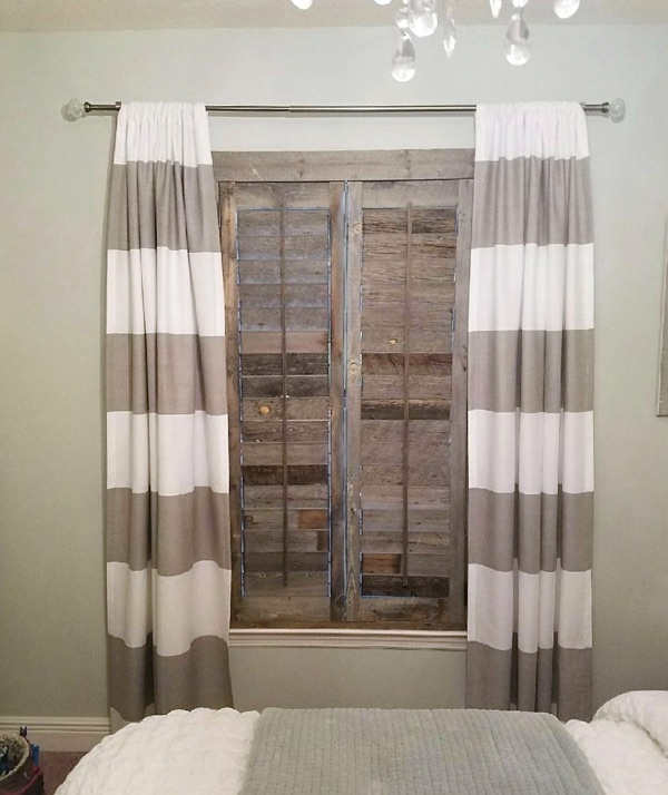 Chicago reclaimed wood shutter bedroom