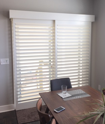 Chicago bypass sliding door shutters