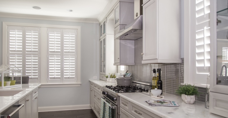 Chicago kitchen white shutters