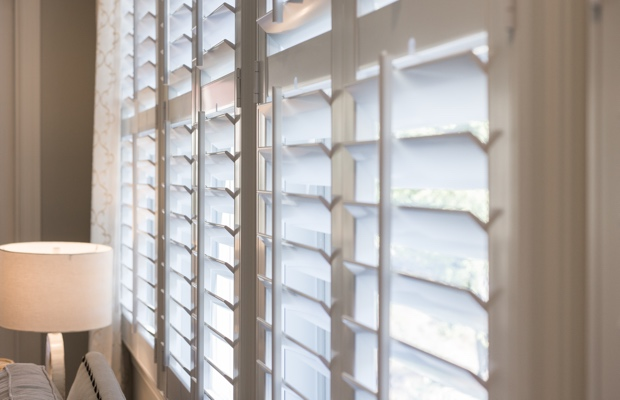 Chicago faux wood shutters