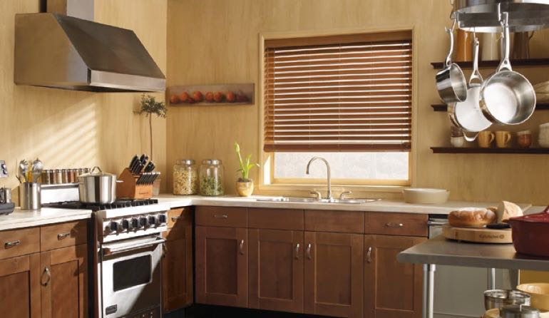 IL faux wood blinds kitchen