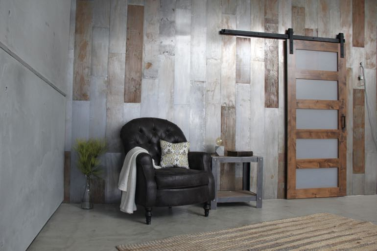 Chicago commercial barn door