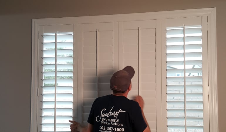 Installation of plantation shutters in Chicago