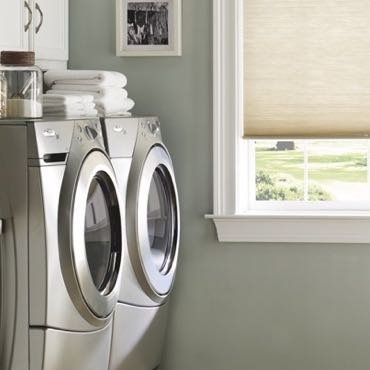 Chicago laundry room cellular shades.