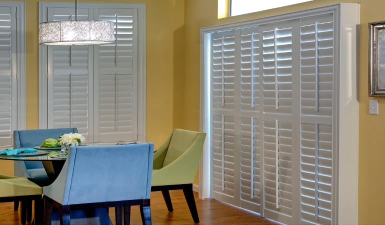 Patio Doors with Plantation Shutters in Chicago