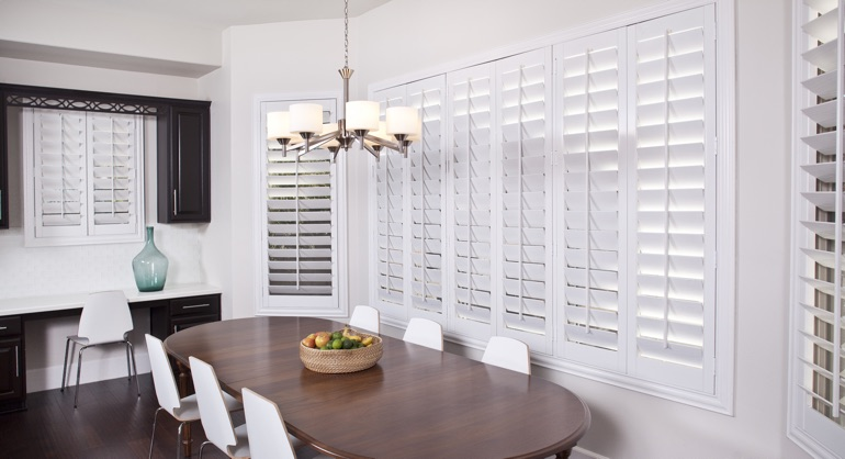 classic shutters in Chicago kitchen