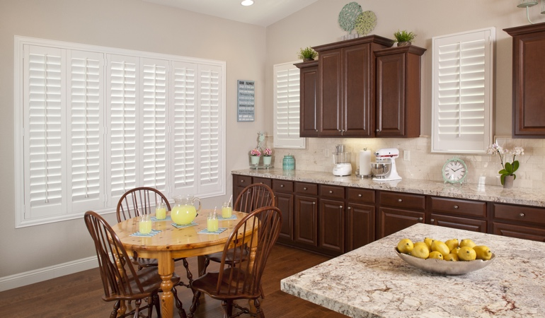 Polywood Shutters in Chicago kitchen