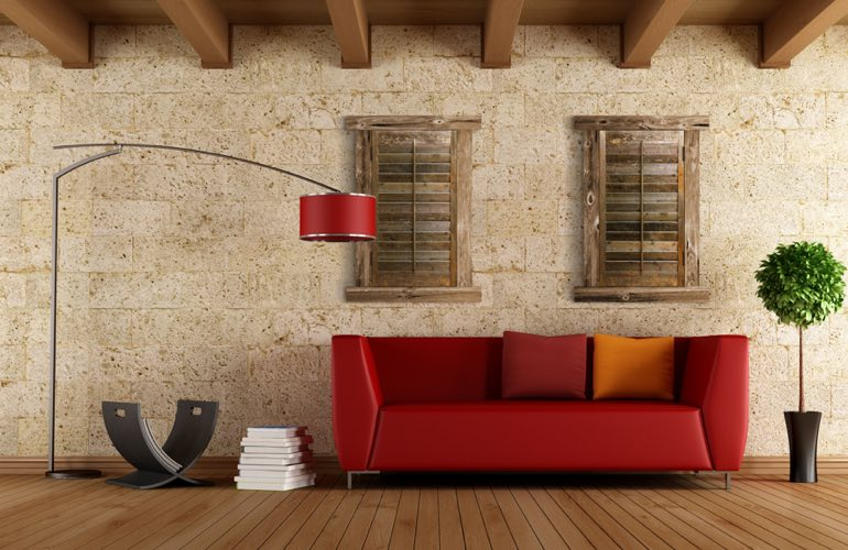 Reclaimed Wood Shutters In A Chicago Living Room. - Reclaimed Wood Shutters For Sale Sunburst Shutters Chicago, IL