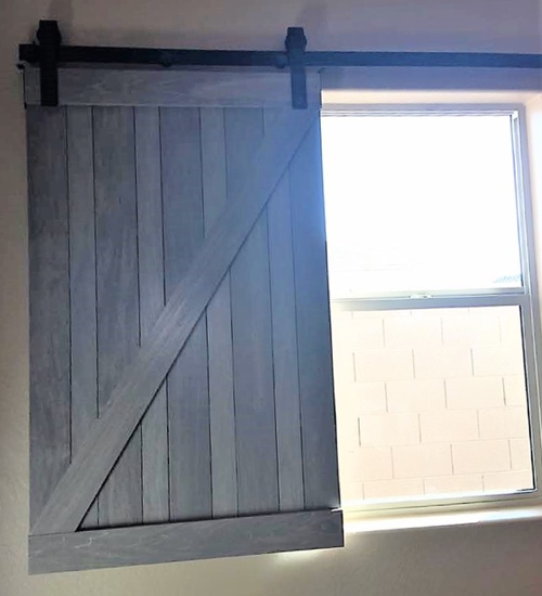 sliding barn door shutter