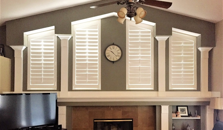 Polywood Shutters in Family Room in Chicago