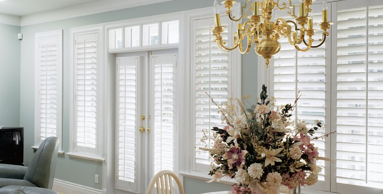 Chicago sunroom polywood shutters