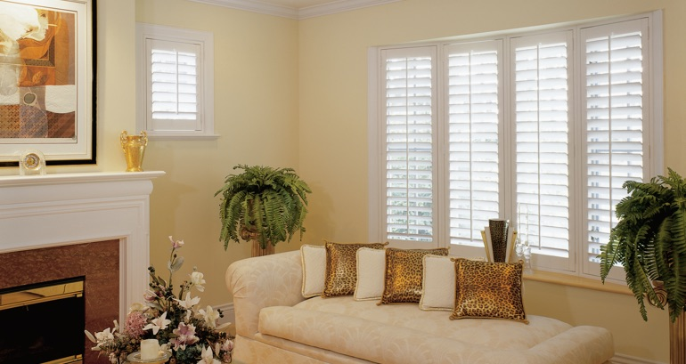 Chicago living room shutters