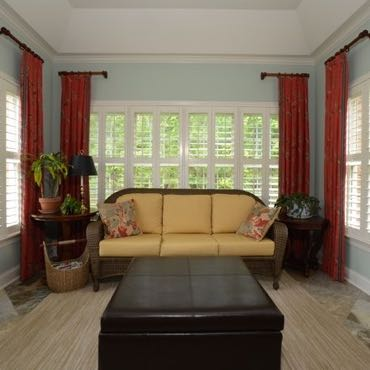 Chicago sunroom polywood shutters.