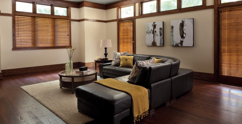 Chicago hardwood floor and blinds