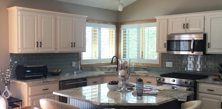 Chicago kitchen with shutters and appliances