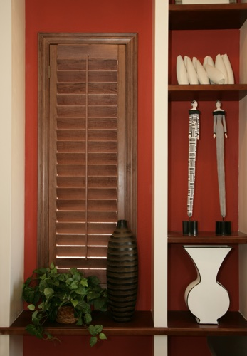 Chicago wood shutter shelving