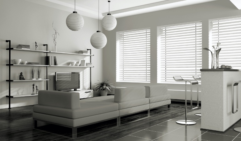white blinds in Chicago