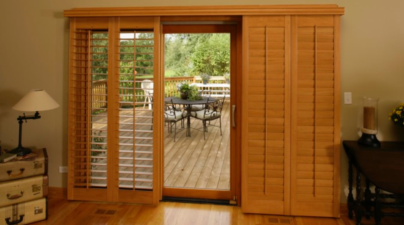 Sliding Glass Door Shutter In Chicago