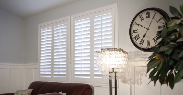 Chicago living room interior shutters