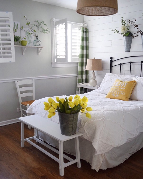 Chicago cottage bedroom shutters
