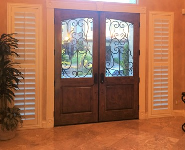 Chicago sidelight window treatment shutter
