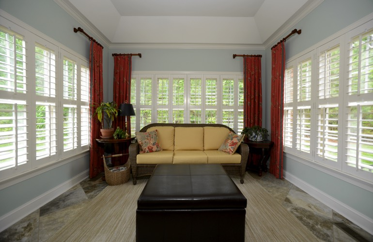 Plantation Shutters In A Chicago Sunroom